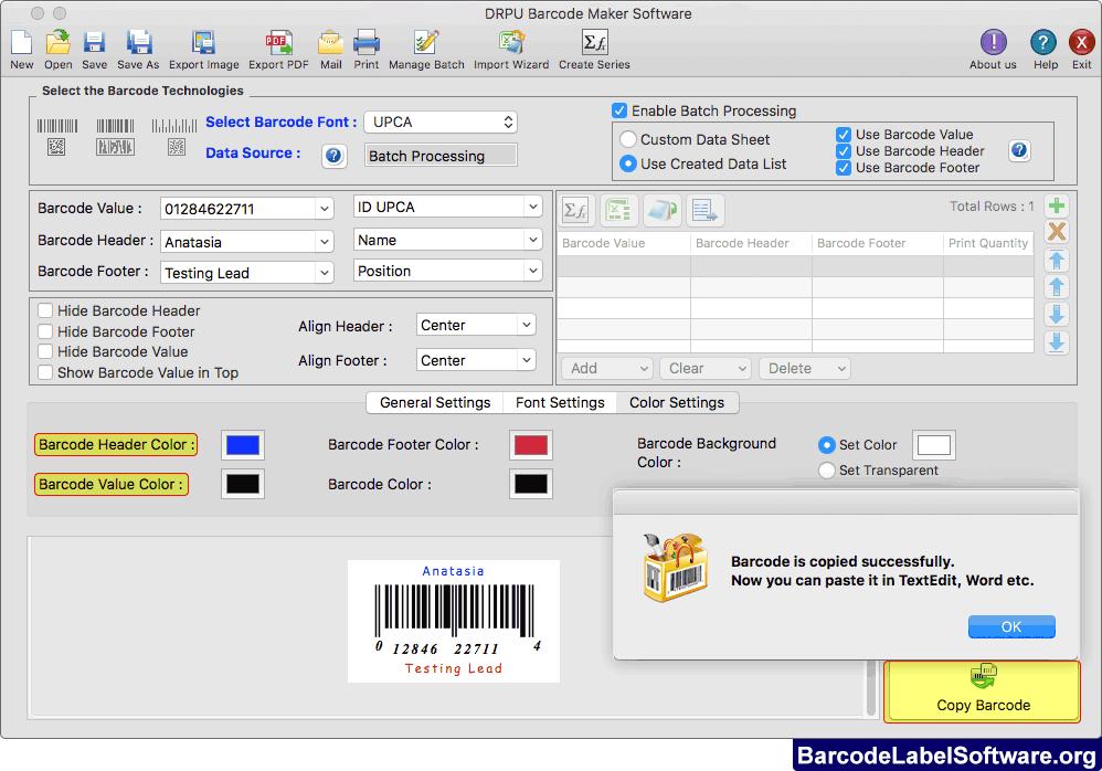 Barcode label software create sticker Mac bar code generator