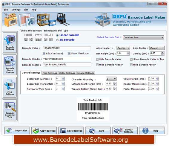 Program creates bulk manufacturing labels