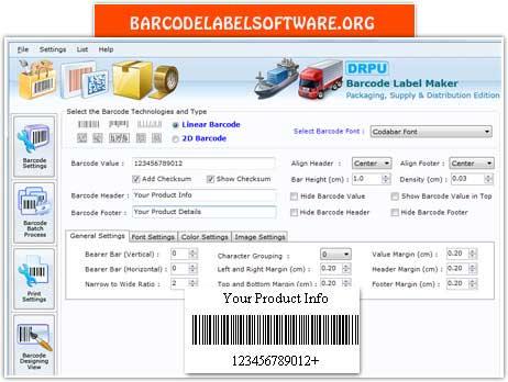Packaging BarcodeSoftware