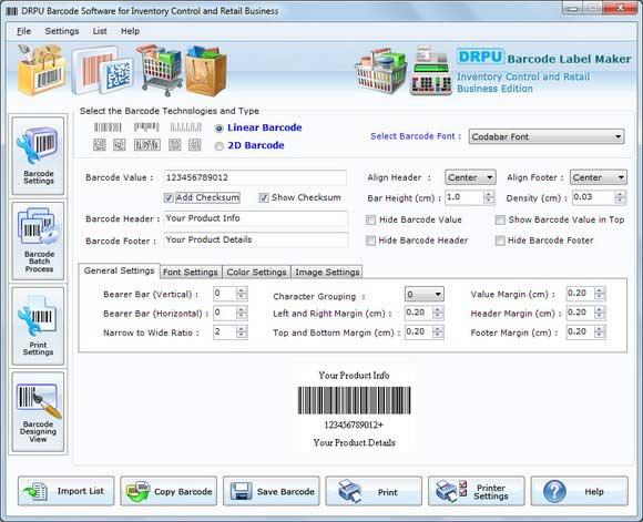 Barcode Generator for Retail Business screenshot